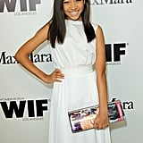 Amandla Stenberg wore all white to the event.