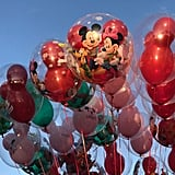 Holiday spirits fly high with themed balloons.