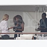 Gwyneth Paltrow, Jay-Z, and Beyoncé Knowles on a yacht in Venice.