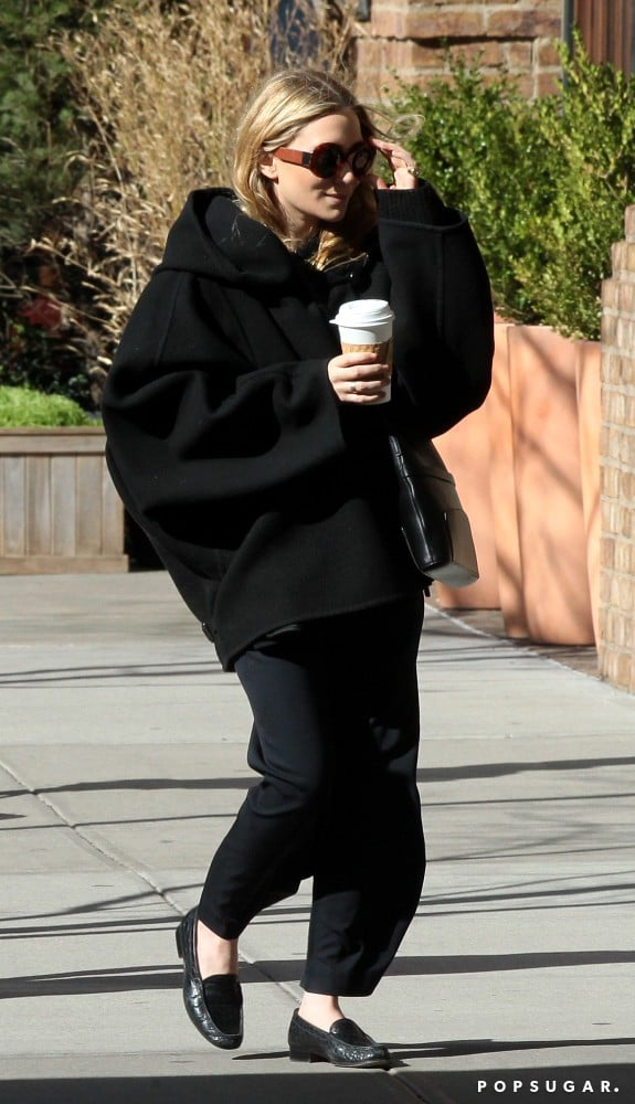 Mary-Kate Olsen wore oversize sunglasses for an NYC outing.