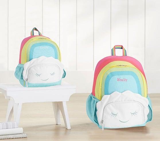 Mackenzie Critter Rainbow Cloud Small Backpack