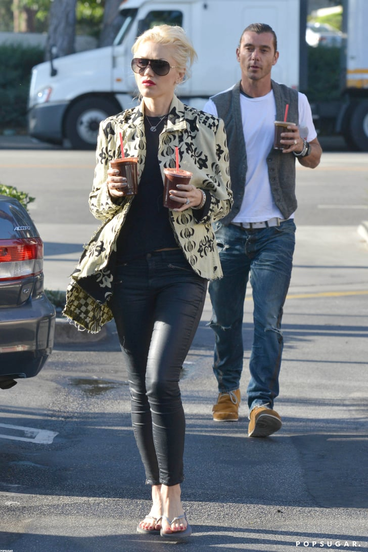 Gwen Stefani and Gavin Rossdale picked up some juice.