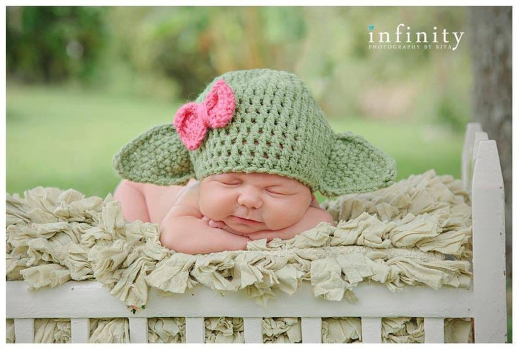 Baby Yoda Hat With Bow