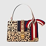 Gucci Sylvie Leopard-Print Calf Hair Shoulder Bag