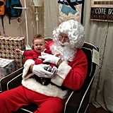 Kristin Cavallari's son, Camden, got a little upset during his first visit with Santa Claus.  Source: Kristin Cavallari on WhoSay