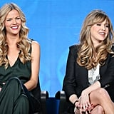 Friends With Better Lives stars Brooklyn Decker and Majandra Delfino smiled.