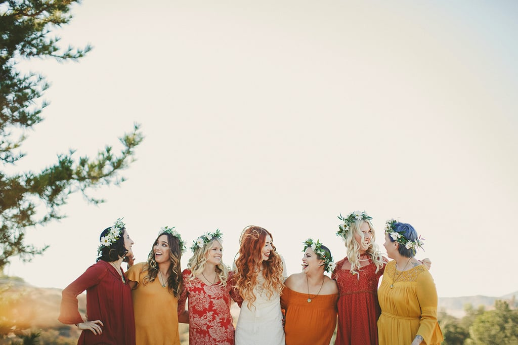 There are a ton of big decisions to make once you've said yes to spending your life with your partner, but choosing a color scheme and style of bridesmaid dresses doesn't have to be one of them! Long gone are the days when one style of dress in one color was the norm — though many brides still choose this format for their bridal parties — so many brides are opting for multiple colors, different dress styles, and even patterned dresses instead of solids. If you're not sure where to start when it comes to your own bridesmaids, check out what some of these real-life blushing brides chose for their big days to get some inspiration.      Related:                                                                                                           100+ Adorable Photos You Need to Take With Your Bridesmaids
