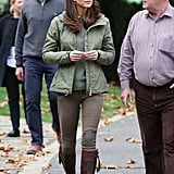 Kate Middleton Brown Boots October 2018
