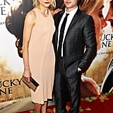 Zac Efron and Taylor Schilling posed together at The Lucky One premiere in Melbourne.