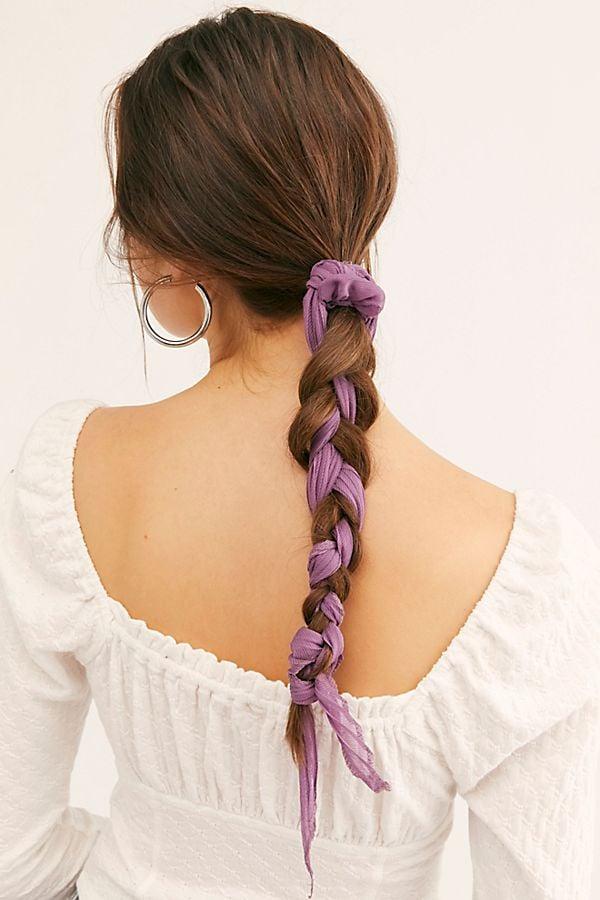 Rapunzel: Purple Pleated Scarf Pony