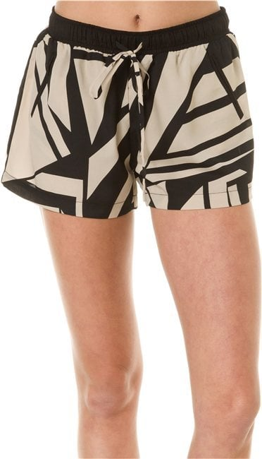 We would instantly punch up these Aryn K geo shorts ($38, originally $58) with a neon-yellow tank.