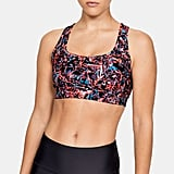 UA Armour Mid Crossback Print Mash Up Bra
