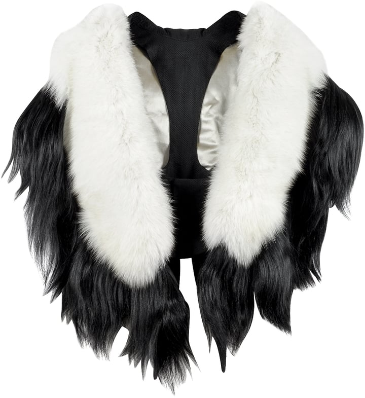 Forzieri Fearfur Bad Black Kite White and Black Fur Stole ($2,250)