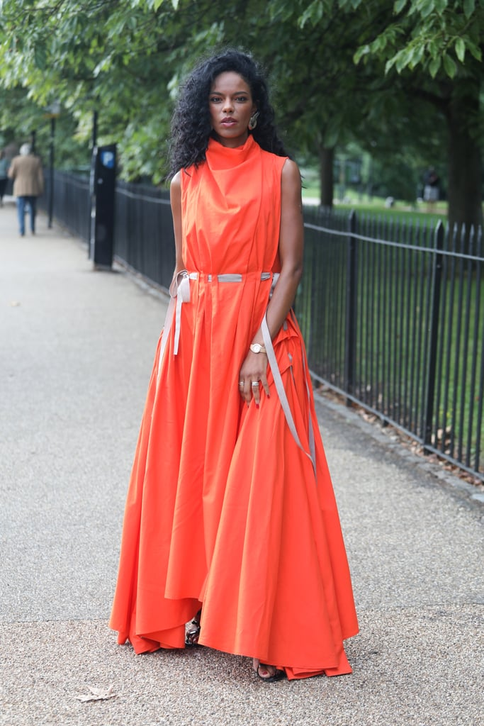 Street Style Is Full of Bright Colours at London Fashion Week