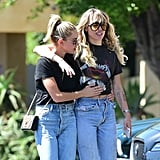 Miley Cyrus and Kaitlynn Carter