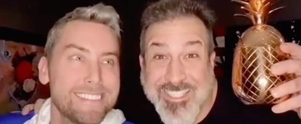 Watch Lance Bass and Joey Fatone Re-Create '90s NSYNC Photo