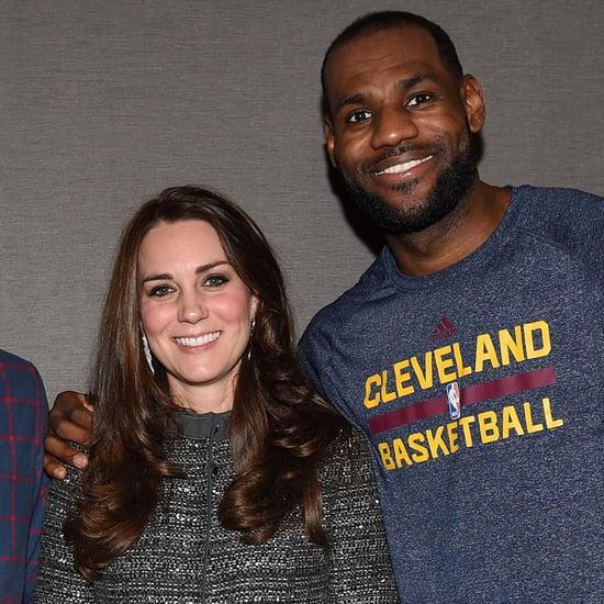 LeBron James Meeting Kate Middleton and Prince William