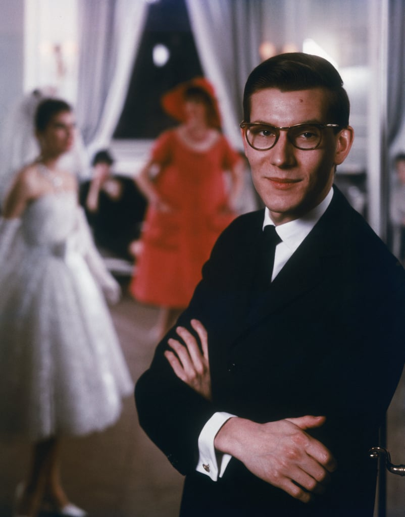 A profile shot of Yves at the beginning of his career at the House of Dior.