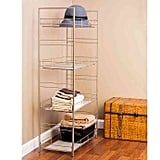 Adjustable Four Tier Mesh Accent Shelf in Satin Nickel Finish