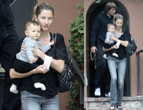 Pictures of Tom Brady, Gisele Bundchen, and Benjamin at Santa Monica Doctor's Appointment