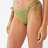 Out From Under Cindy Ribbed High Leg Side-Tie Bikini Bottom