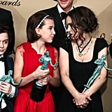 Noah Schnapp, Millie Bobby Brown, and Winona Ryder