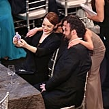 Over in the audience, Emma Stone got in on another of the night's selfies.