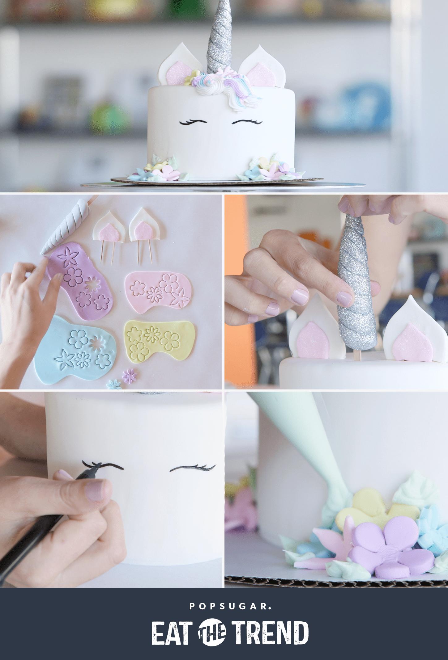 Unicorn Cake Video   POPSUGAR Food