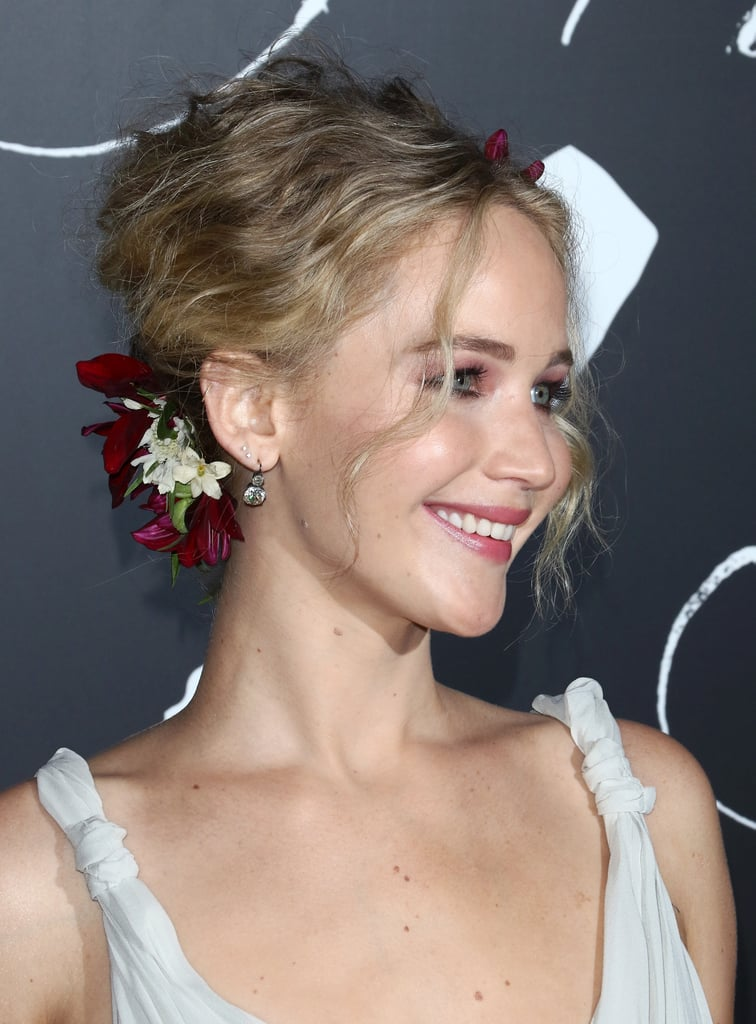 Jennifer Lawrence Flower Updo Popsugar Beauty Australia