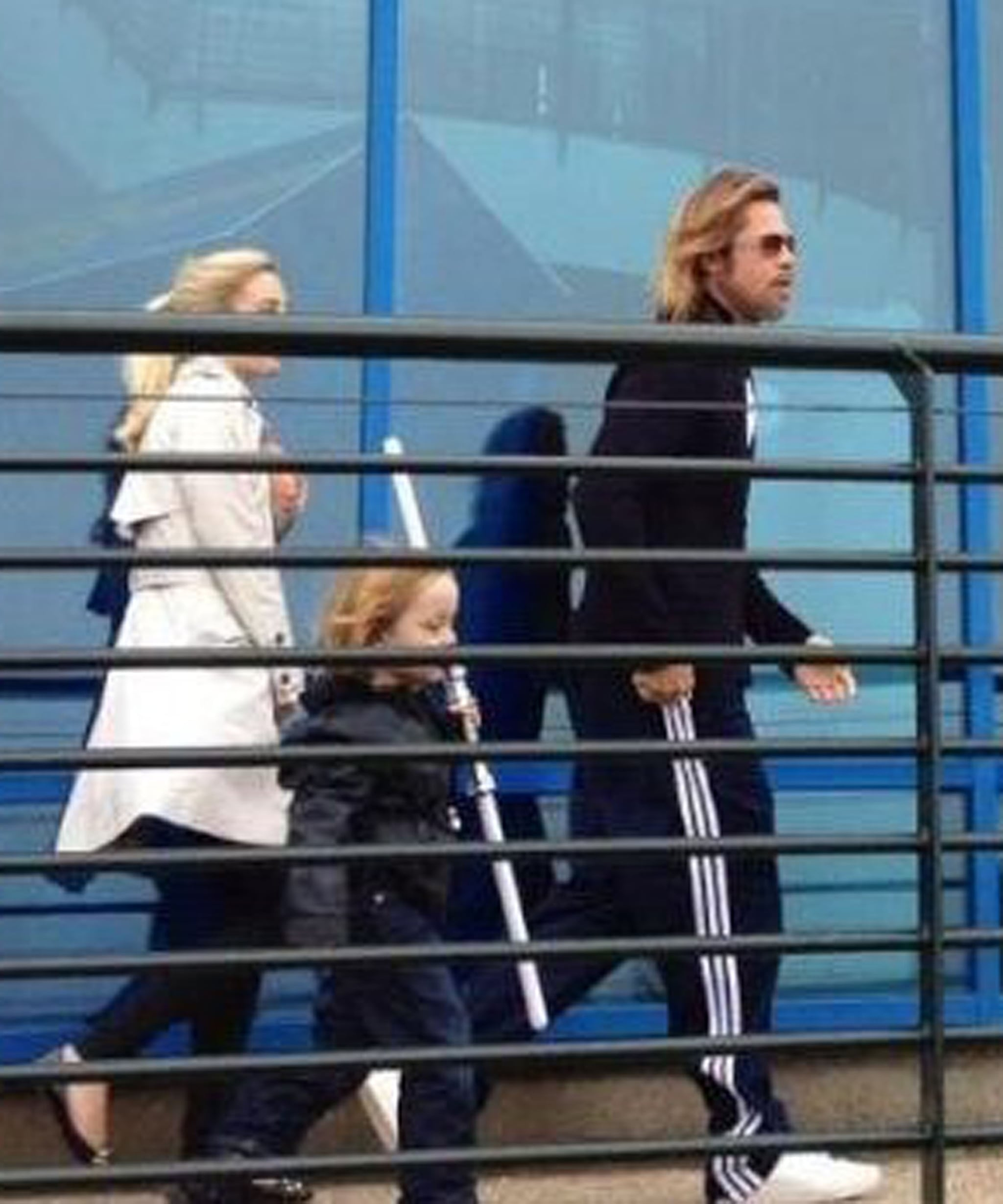 Brad Pitt and Knox Jolie-Pitt made a visit to Legoland in Windsor, England, in May 2012.