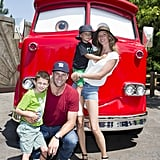 Gisele Bündchen and Tom Brady spent a fun afternoon with Benjamin and Jack at Disney California Adventure Park.