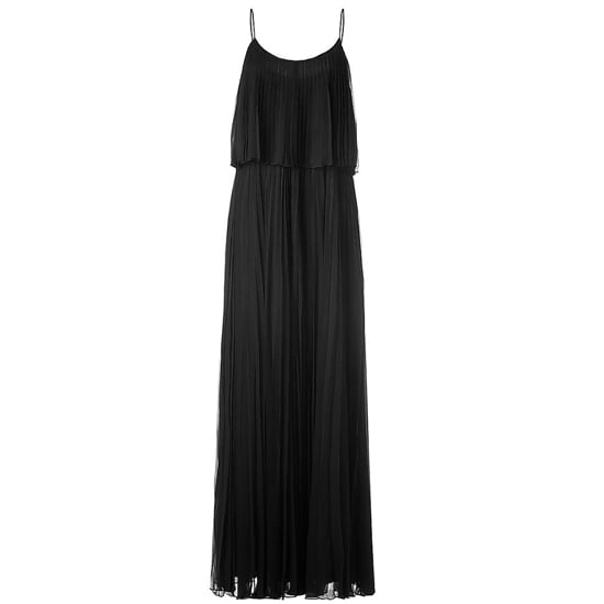 """>> Accentuate the gorgeous lines of this pleated gown with platform heels and a refined clutch. Play up the '70s vibe with a whimsical pendant. Halston Heritage Pleated Maxi Dress , $1,060 Looks chic with: <iframe src=""""http://widget.shopstyle.com/widget?pid=uid5121-1693761-41&look=3353305&width=3&height=3&layouttype=0&border=0&footer=0"""" frameborder=""""0"""" height=""""244"""" scrolling=""""no"""" width=""""286""""></iframe>"""