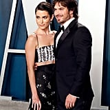 Nikki Reed and Ian Somerhalder at the Vanity Fair Oscars Afterparty 2020