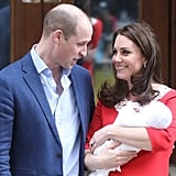 William could barely contain his excitement during the birth of Louis in April.
