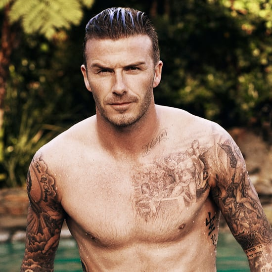 David Beckham Shirtless on Elle UK (Video)