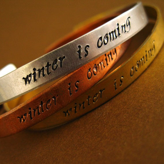 Game of Thrones hand-stamped cuff ($18)