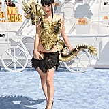 She sure knows how to make a statement. Just look at that dragon!