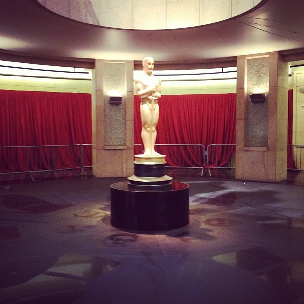 A look at a lonely Oscar statue inside the Dolby Theatre. Source: Instagram user beckykirsch
