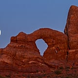 A supermoon at Arches National Park in Utah.