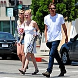 Kirsten Dunst and Garrett Hedlund hung out in LA.