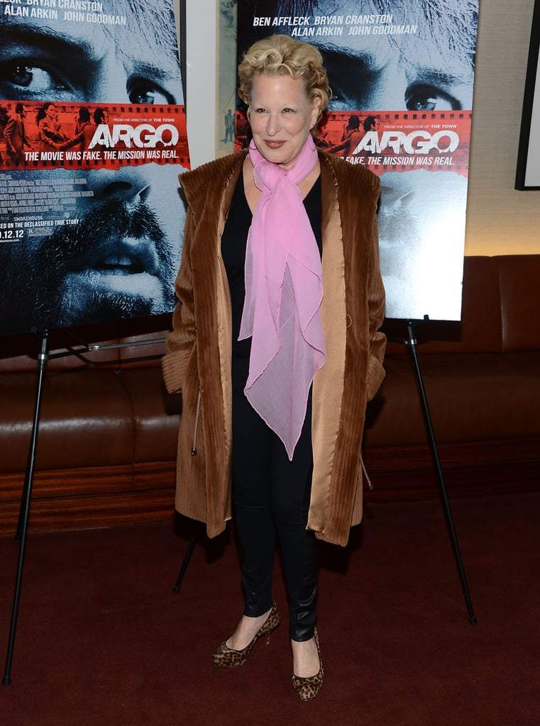 Bette Middler attended the NYC premiere of Argo.
