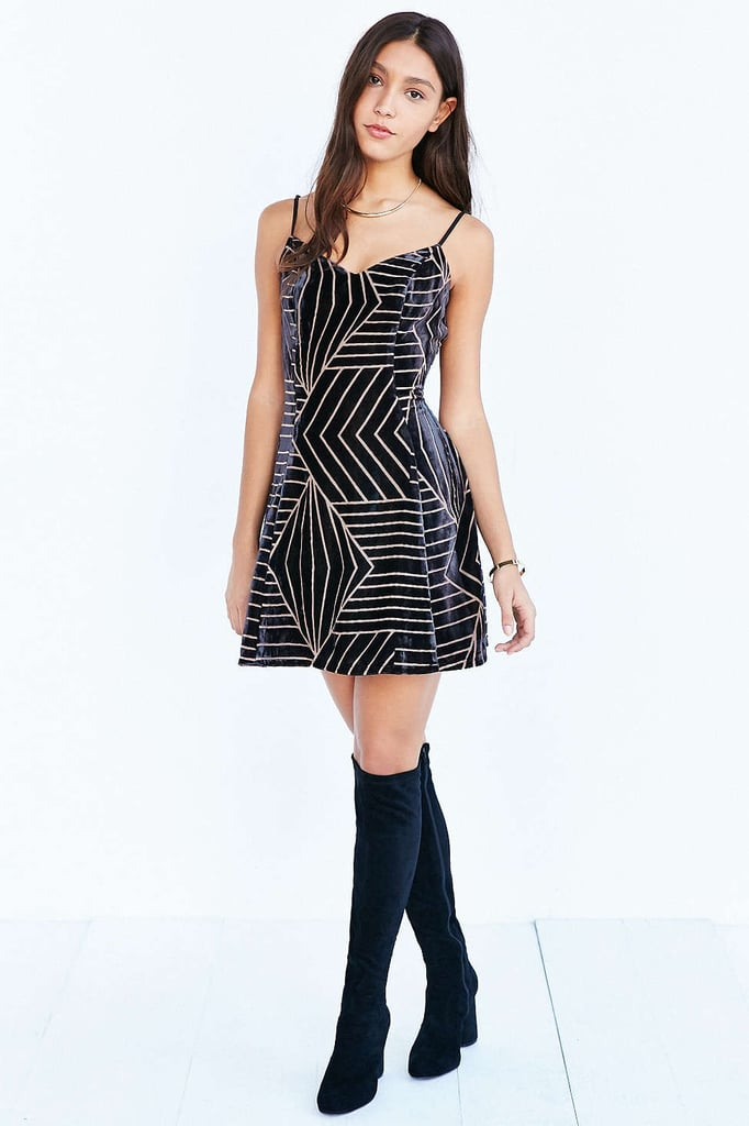 Silence and Noise Burnout Vlevet Dress ($69)