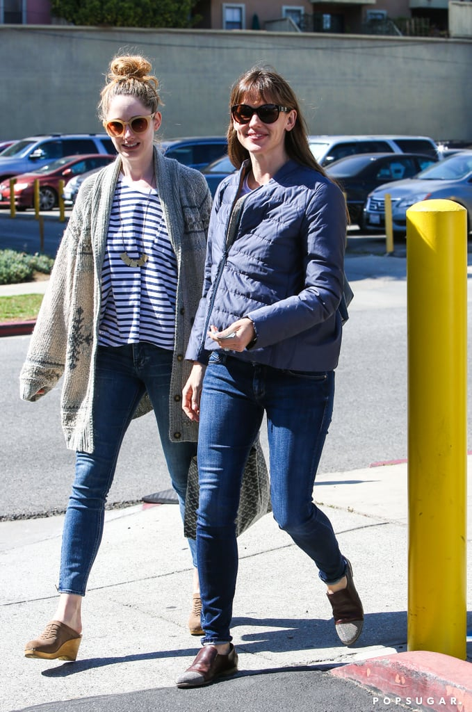 Jennifer Garner reunited with Judy Greer, her 13 Going on 30 costar, when they grabbed lunch with Ben Affleck in LA on Thursday.
