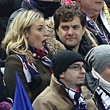 Diane Kruger and Joshua Jackson Kiss at Soccer Game in Paris
