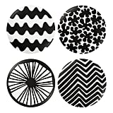 Salad plate set in black ($20)