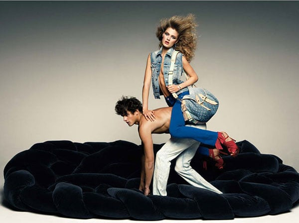 "W Magazine Highlights Louis Vuitton Spring 2010 in ""Beyond Blue"" Editorial"