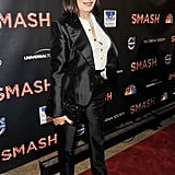 Anjelica Huston attended the NBC Entertainment & Cinema Society with Volvo premiere of Smash at the Metropolitan Museum of Art.