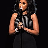Jennifer Hudson sang an emotional tribute to Whitney Houston, who died suddenly just days before the 2012 Grammys.