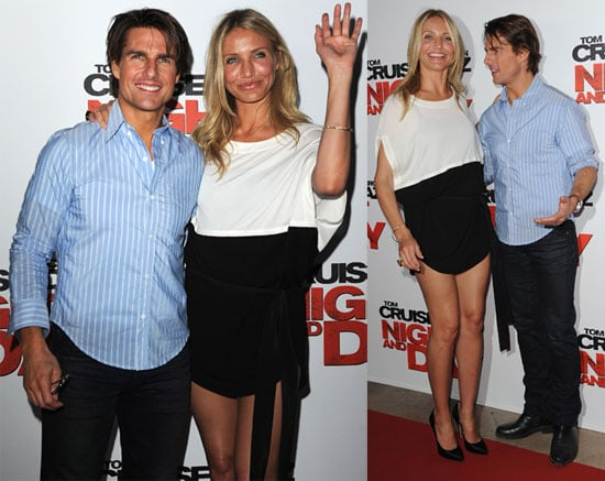 Pictures of Tom Cruise and Cameron Diaz Premiering Knight and Day in France