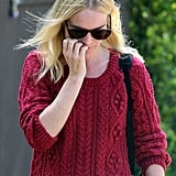 Kate Bosworth made her way to her car after lunch.
